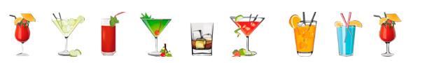 cocktails con alcohol y sin alcohol